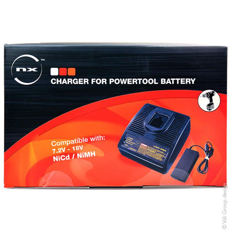 Caricabatterie utensileria per Dewalt/B&D 7.2V-18V NICD-NIMH - CEH9105