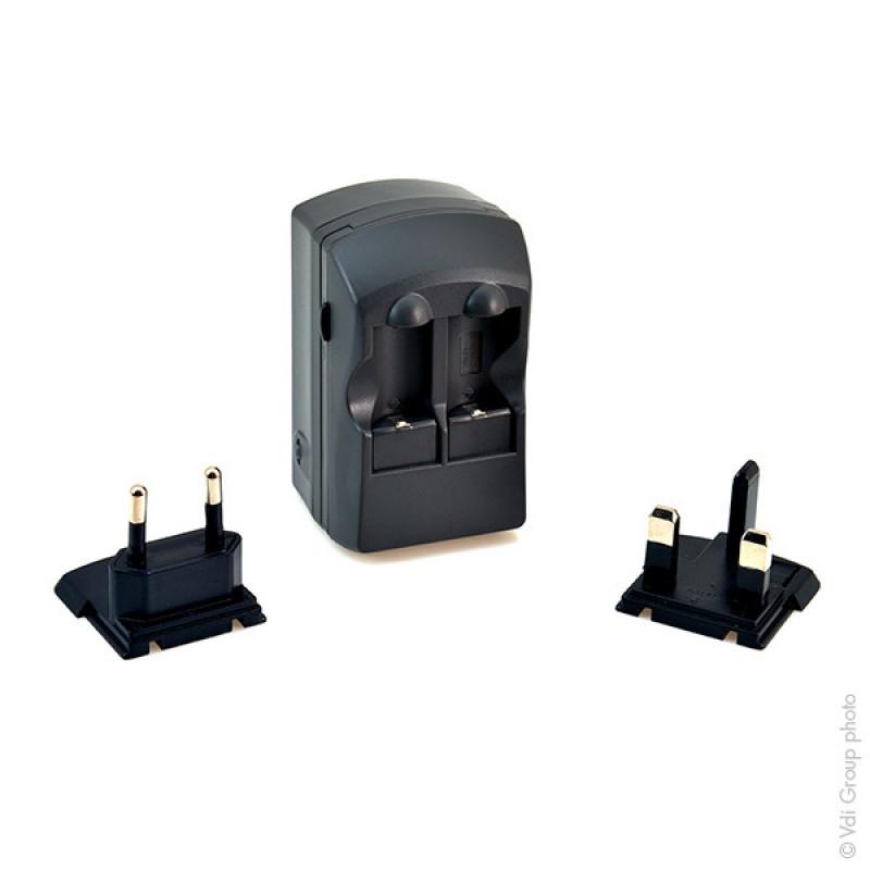 Caricabatteria per 2 Batterie CR123 (presa EU+UK) - CEL9011